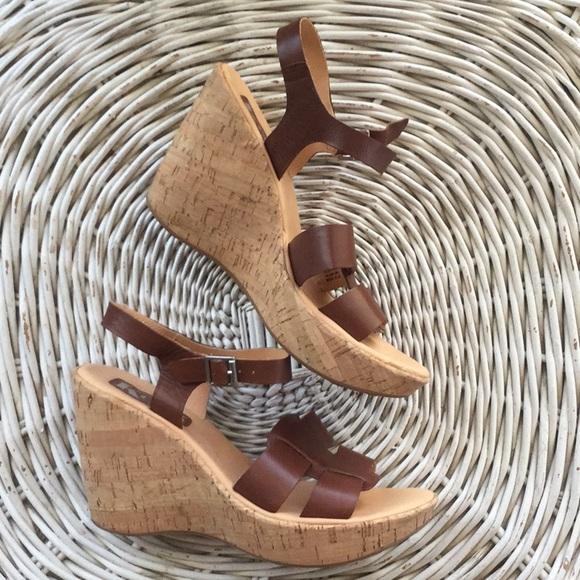 39db73b0479 Kork-Ease Shoes - Korks Della cork platform wedge leather sandals